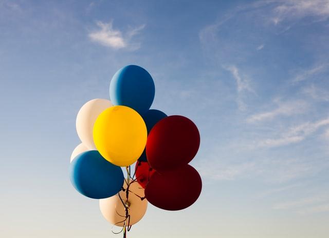 幸せの象徴である風船